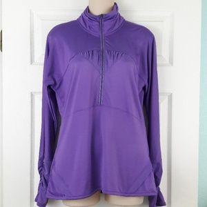 Athleta Purple Half Zip Pullover